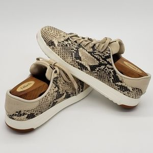 Cole Haan GrandPro Snakeskin Print Shoes Sz 8.5